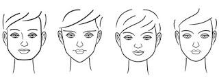 Tipos de rostos - Corte de Cabelo Curto