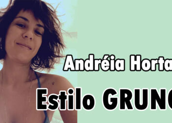 Corte curto desfiado da atriz Andréia Horta estilo grunge