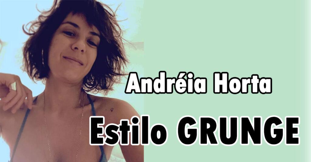 Cabelo Curto Desfiado da Atriz Andréia Horta: estilo Grunge